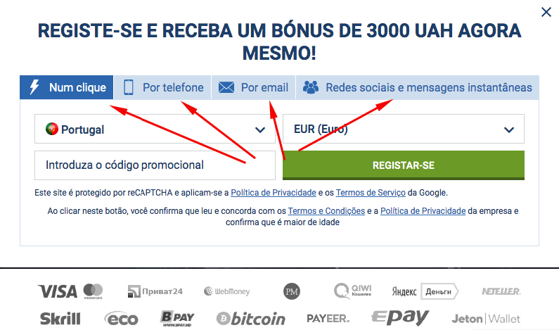 Registe 1xbet App Portugal